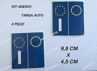 KIT4 PEZZI ADESIVI ADESIVO PVC PER TARGA EUROPA  AUTO STICKERS BMW AUDI mercedes