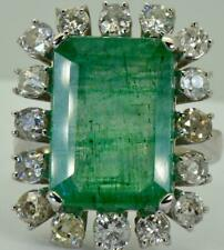 Magnificent certified 10.9ct Colombian Emerald& Diamonds Tiffany&Co w.gold ring
