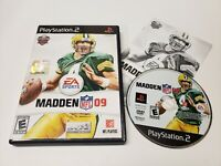 Madden NFL 09 (Sony PlayStation 2, 2008) PS2 Game Complete w/ Manual CIB TESTED