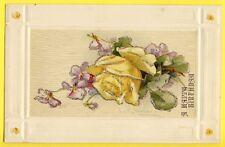Splendide Post Card NEW ART GERMAN AMERICAN LITHO ROSE et VIOLETTES signée KLEIN
