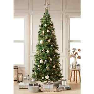 7.5ft Pre-lit Artificial Christmas Tree Slim Virginia Pine with Clear Lights