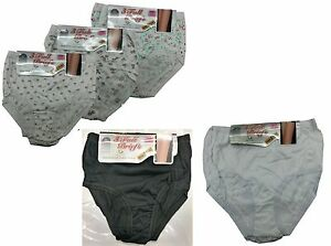 6 Pairs Ladies Womens Cotton Full Briefs Underwear Knickers All Sizes 10-28 uk