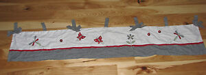 LAMBS AND IVY DRAGONFLY FLOWER VALANCE BLACK WHITE RED GINGHAM PLAID HOUNDSTOOTH