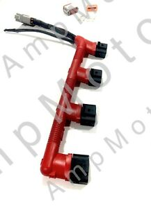 Red Conduit Ignition Wiring Harness Upgrade Kit   Audi   VW MK4   1.8T 2.0T
