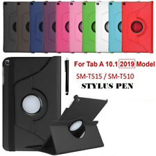 "360 Rotation Leather Stand Case Cover Samsung Galaxy Tab A 10.1"" T510-T515 2019"
