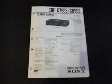ORIGINALI service manual Sony cdp-c79es/c89es