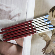 5Pcs Clay Sculpting Wax Carving Pottery Tools Polymer Birch Handle Set