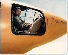 "Chuck Yeager with the Bell X-1 - 8"" x 10"" Color Photo (Remastered)"