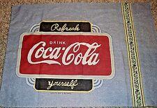 Vintage Pillow Case Coca-Cola Fabric Material Pillow Case Enjoy Coca-Cola