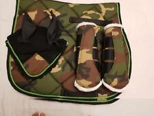 Numnah Saddle Pad, Fly Veil and Brushing Boots Camo Colour