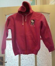 HELLO KITTY Girls Pink Zip Fastening Hoodie-Jacket 13-14 Years-VGC
