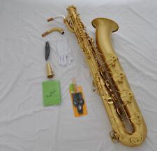 Professional Taishan yellow antique EB Baritone Sax Low A key Germany mouthpiece