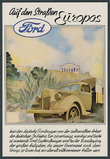 Or. Color Advertising Ford Truck V 3000 S Truck Car Athens Acropolis Cologne-niehl 1944