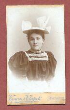 Romania, Young Lady   fancy hat   CDV by Krauss & Klapok,  Arad,  Lugoj    QT105