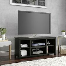 """Mainstays Parsons Cubby TV Stand for TVs up to 50"""", True Black Oak"""