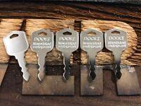 "5 keys for Daewoo Doosan Forklift Skid steer key #554212 ""212"" ""DOOLT"""