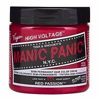 Manic Panic Vegan Semi Permanent Hair Color Cream 118 mL Red Passion