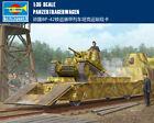 GERMAN PANZERTRAGERWAGEN BP-42 1/35 Tank transport card Trumpeter model kit