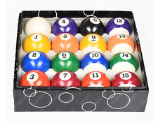 "2-1/4"" Inch Deluxe Billiard / Pool Ball Complete Set 16 Balls Boxed US Stock"