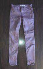 J Brand Girls Waxed Cotton Skinny Style Glitter Pink Jeans Sz 10 Nwot Cute!!