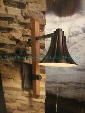 Intertek Portfolio Outdoor Wall Lantern Dark Sky Matte Black & Sienna 337458 New