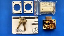 Schlage CL2000PB X 605 Polished Brass Cabinet Lock For Drawers  - A Lot of Five