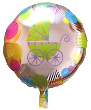 Baby Shower New Born Boy Girl Helium Foil Balloon Pram Unisex Gender Neutral