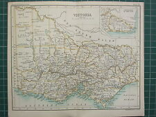 1904 SMALL MAP ~ AUSTRALIA ~ VICTORIA MELBOURNE CROAJINGOLONG
