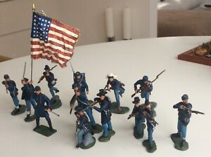 ACW Civil War  - Union soldiers - Lot of 13  1/32 Scale - ( Various Brands )