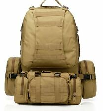 Outdoor Unisex Military Tactical Backpack Camping Hiking Bag 50L