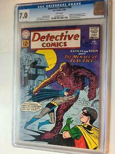 DETECTIVE COMICS # 298 DC 1961 ORIGIN FIRST APP SILVER AGE CLAYFACE WHITE PGS
