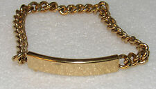 Speidel AUTHENTIC VINTAGE NEW GOLD PLATED ID ENGRAVABLE WOMEN BRACELET