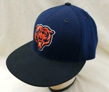 Chicago Bears Fitted Hat Baseball Cap Mitchell & Ness Size 7 1/4  blue black