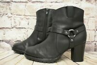 Womens Clarks Verona Rock Black Leather High Heel Ankle Boots UK 4 D EUR 37