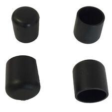4x Fusskappe 18 mm für runde Rohre Schwarz Stapel- Gartenstuhl Schutzkappe Bank