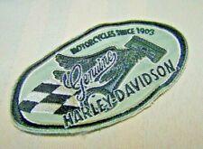 Vintage Harley-Davidson Genuine Harley Checkered Flag Patch