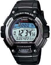 Casio Solar Digital Watch, World Time, 120-Lap, 100 Meter, 5 Alarms, WS220-1AV