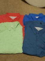 Lot Of 4 Columbia PFG Omni-Shade Short Sleeve Vented Fishing Shirts. Size XXL.