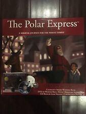The Polar Express Holiday Gift Set Van Allsburg Book Bell Poster Dvd Cd Reading