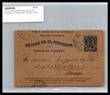 GP GOLDPATH: EL SALVADOR POSTAL CARD 1902 _CV778_P06