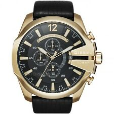 Diesel Mega Chief Leather Chronograph Mens Watch DZ4344