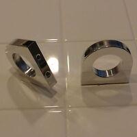"Billet aluminum universal bolt on clamp bracket 1.5"" 1-1/2"" cage bar tube clamp"