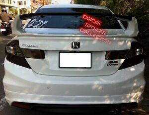 Unpainted Honda 2012 Civic Sedan 4D LIMIT trunk spoiler 4pcs ◎