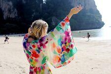 2X porté h&m Garden Collection Boho Kimono Robe Tunique UK 12 14 US 8 10 Eu 38 40