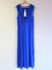 2Chillies Sz L New $64.95 Royal Blue Stretch Mesh Hoodie Maxi Beach Cover Dress