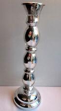 Grand Bougeoir d'église, 30 cm, verre églomisé argent, Napoléon III, 2 disponibl