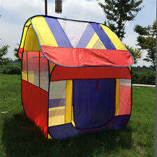 Kids Play House Indoor Outdoor Easy Folding Ball Pit Hideaway Tent Play Hut Tent