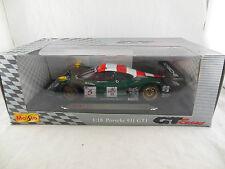 Maisto Porsche 911 GT1 98 Zakspeed Racing No.5 Scale 1:18 S Grau & A Scheld