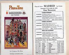 Tauromaquia Plaza Toros Madrid Corrida Curro Romero año 1991 (DT-300)