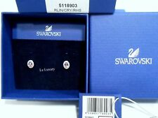 5118903 Swarovski Christie Oval Pierced Earrings Pink/Clear Crystal Authentic